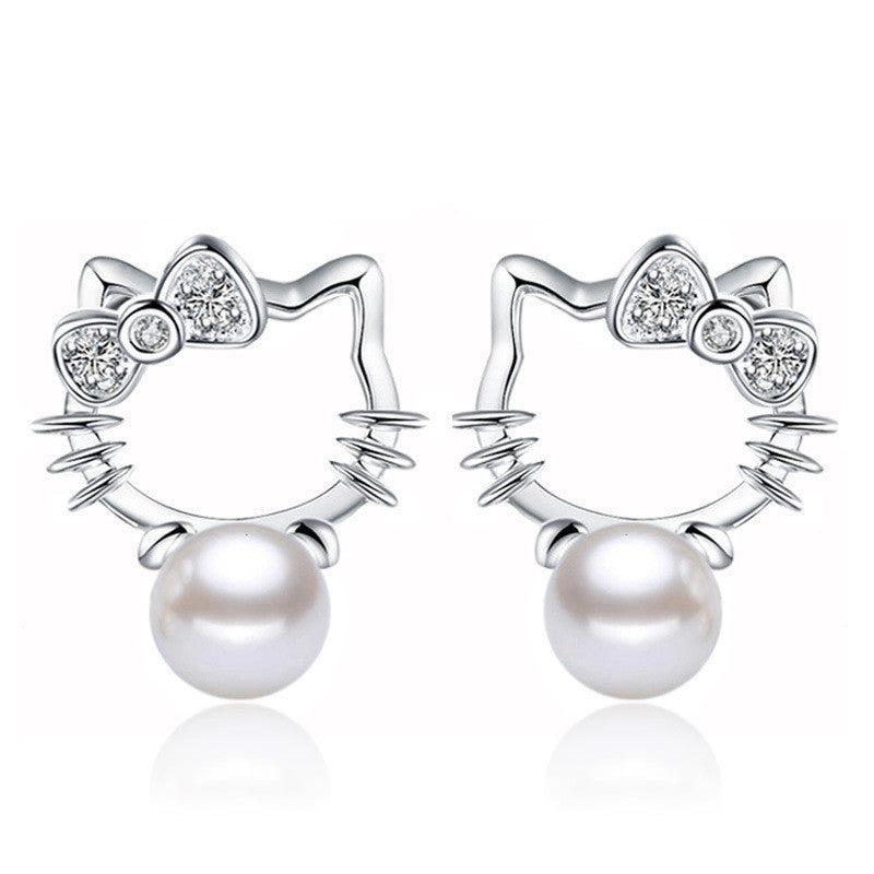 SALE! 8MM Silver plated earrings