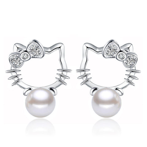 smartypurchase earrings High imitation pearl SALE! 8MM Silver plated earrings