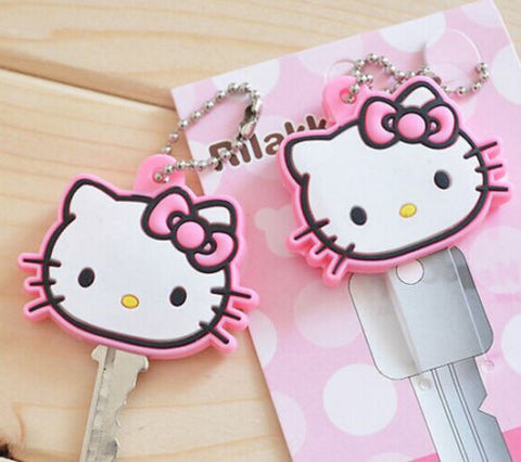 Hello Kitty Key Chain Pink Cap Cover