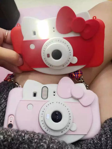 Hello Kitty Self-timer/ Led Flash Light/ Phone Case for Iphone 6 6s 6Plus 7 7plus