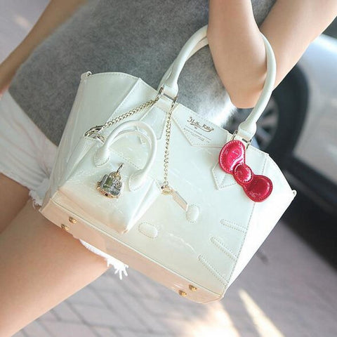 Luxury famous brand designer leather hello kitty handbags