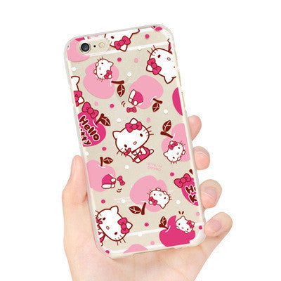 Hello Kitty Case For iPhone 6 6s Plus 5 5S SE