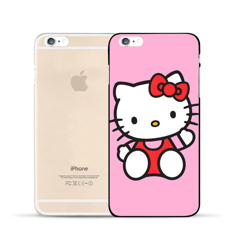 Hello kitty case for iphone 6 6s 6plus 7 7plus 5 5S SE 5C 4S 4