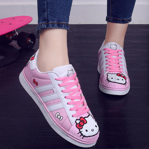 2017 Hello Kitty Flats Boards Shoes for Adult