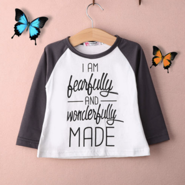 I Am FearFully and Wonderfully Made Kids Shirt