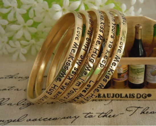 Wishing Statement Bangles Complete SET of 5