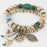 Gold Beads Multi Layer Bracelets