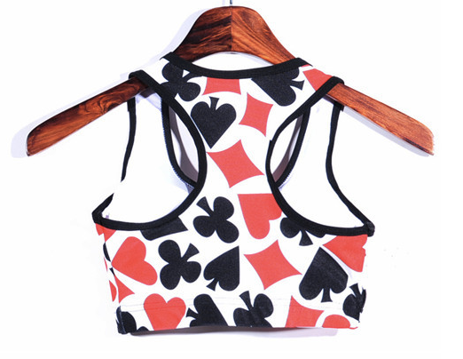 Cards Padded Sports Bra