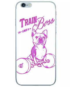 Train Like a Boss Bulldog Fitness Phone Case