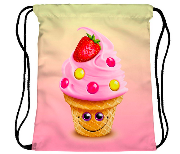Happy Cupcake Drawstring