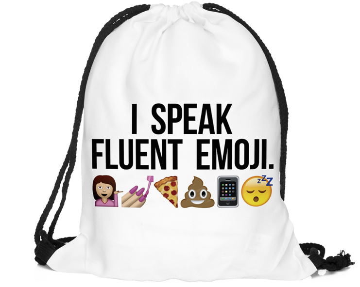 I SPEAK FLUENT EMOJI Drawstring
