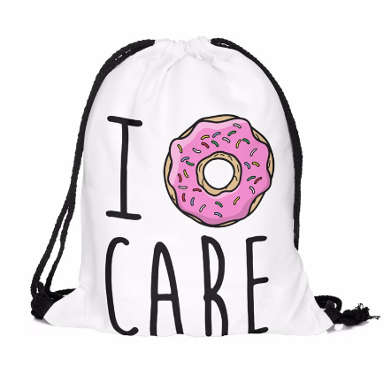 I DONUT CARE Drawstring