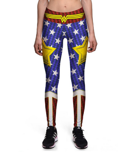 Wonderwoman High waist Elastic Gym Leggings