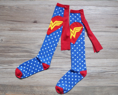 Wonderwoman with Cape Knee Socks