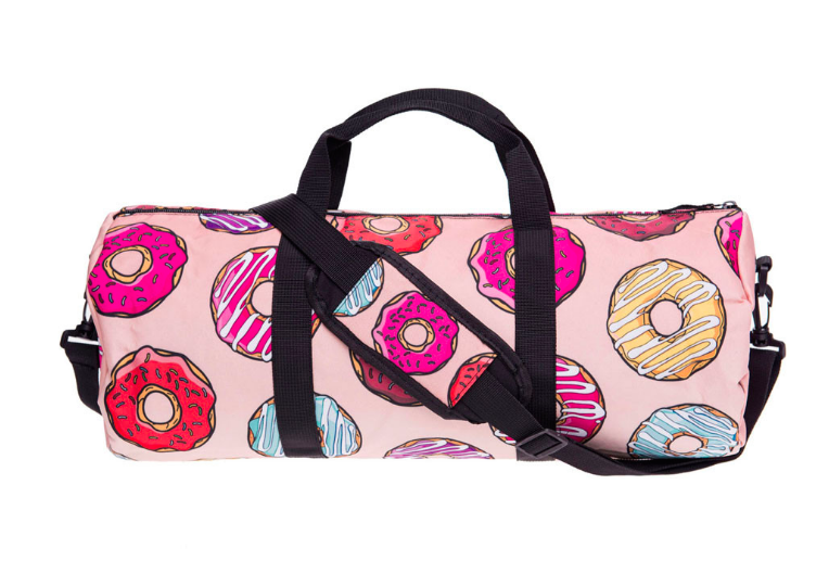 3D Donuts Women Gym Bag