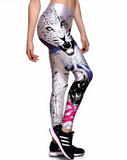 Snow Leopard High waist Elastic Gym Leggings