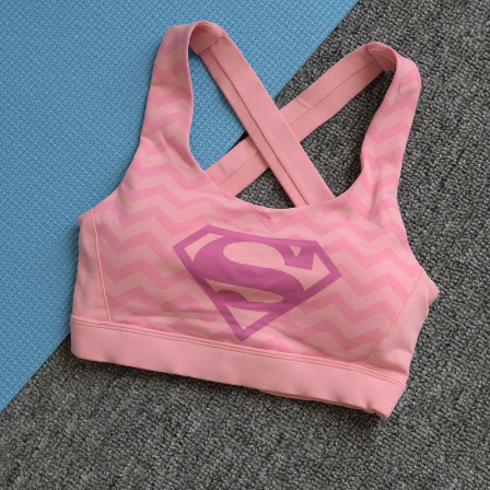 Pink Superman Sports bra