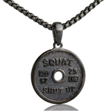 Squat and Shut up Stainless Steel  Necklace