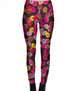 Colorful Donuts Gym Leggings