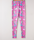 Donut and Unicorn Fitness Leggings