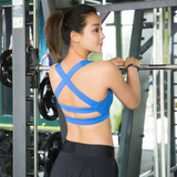 Solid Cross Strap Sports Bra