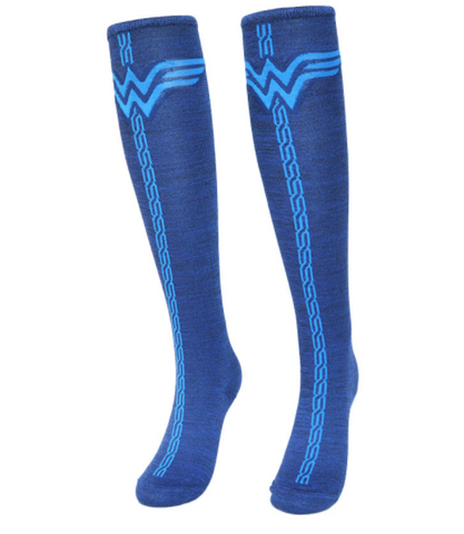 Blue Wonderwoman Knee Socks