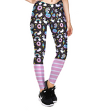 3D Unicorn/Rainbow/Donuts High waist Elastic Gym Leggings