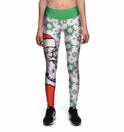 3D Merry Christmas High waist Elastic Gym Leggings