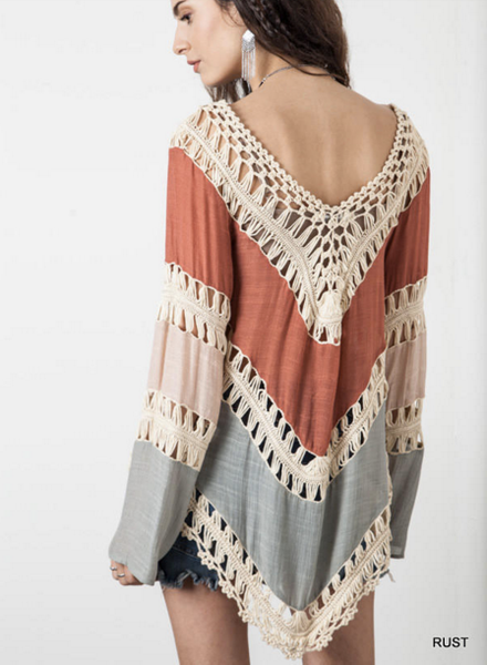 Crochet Knitted Summer Top