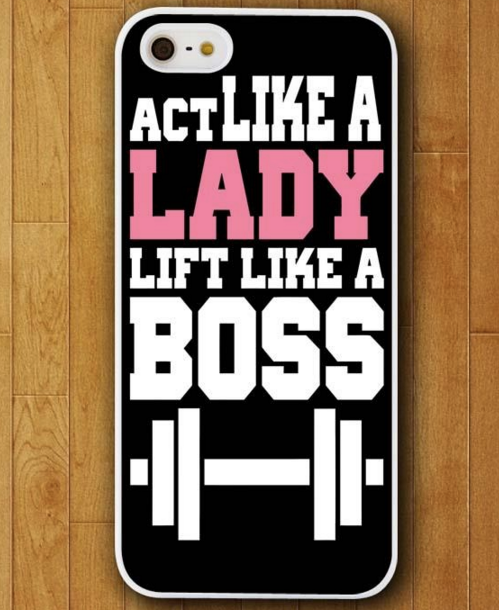 Act Like a Lady Lift Like a Boss Case for iphone 4 4s 5 5s 5c 6 6 plus