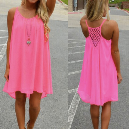 Fluorescence Summer Chiffon Dress