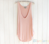 Loose V-Neck Tank Tops