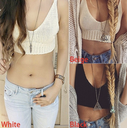 Knitted Beach Cropped Top