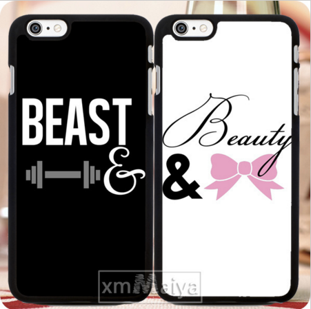 Beauty and Beast Matching Phone Case (2pcs)