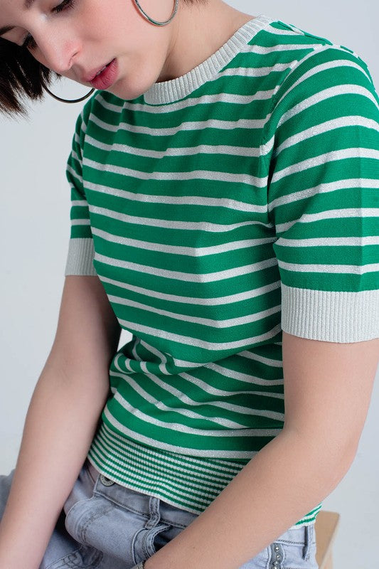 Lucky Stripes Knit Top