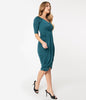 Teal The Scene Wiggle Dress