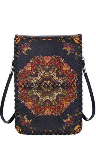 Mandala Crossbody Phone Holder