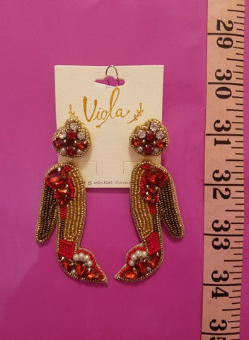 Beaded Stilletto Earrings