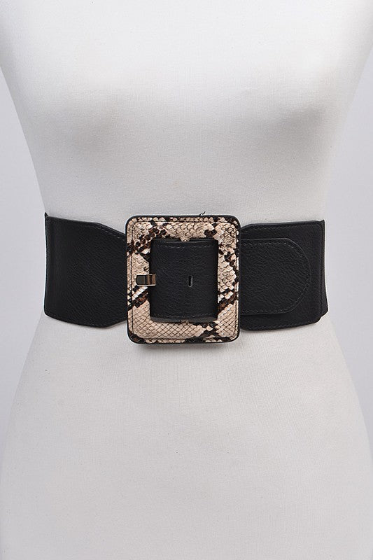 Python Size Princess Belt: Beige/black