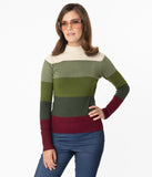Mia Striped Knit Sweater