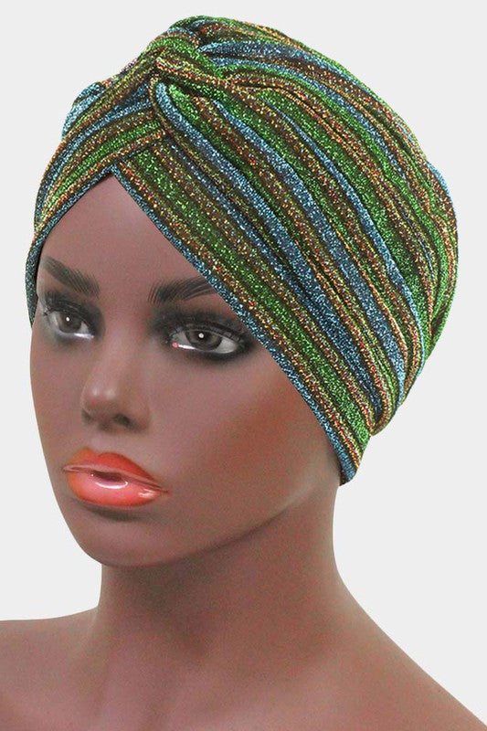 Blue & Green Sparkle Head Wrap