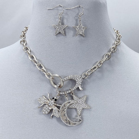 Key To The Universe Necklace Set: Silver