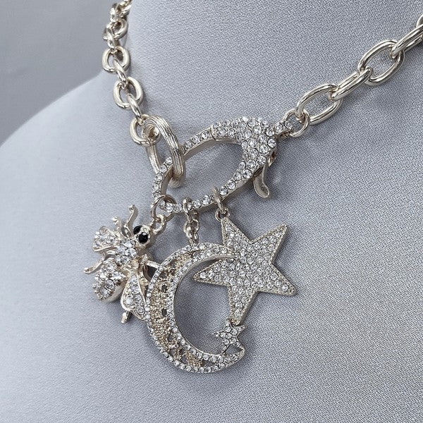 Witchy Charms Necklace & Star Earring Set