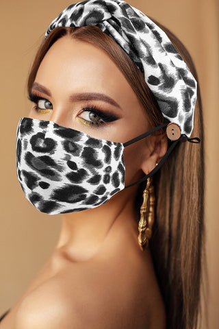 Glass Beads Mask Chain: Black