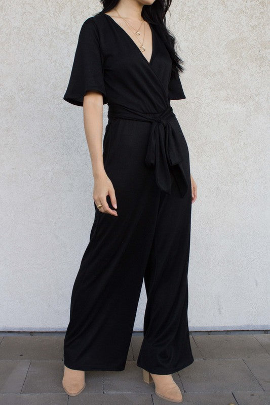 Soft Knit Qu'ra Jumpsuit: Black
