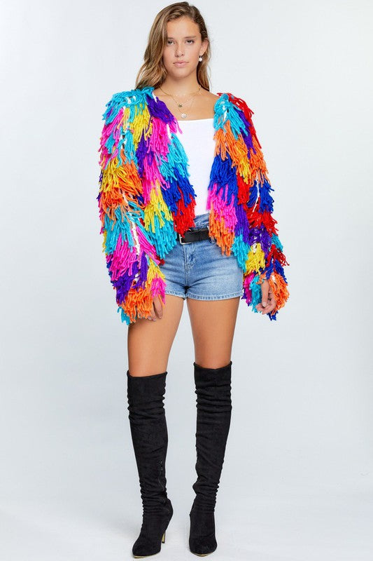 The Future Looks Bright Fringe Cardi