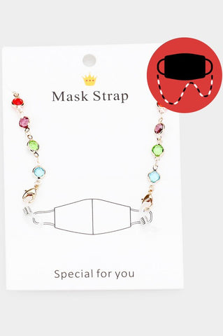 Mutli Small Beads Mask & Glasses Chain