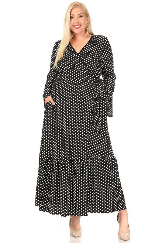 Double Dots Maxi Dress