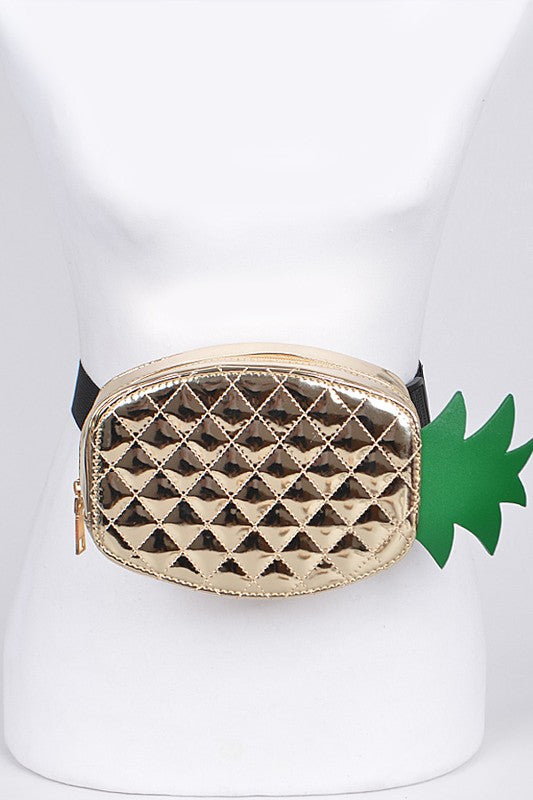 Metallic Pineapple Fanny Pack