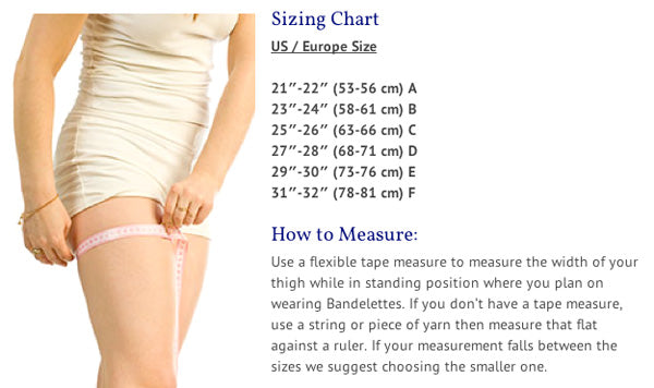 Bandelettes Anti-Chafing Thigh Bands: Beige Lace